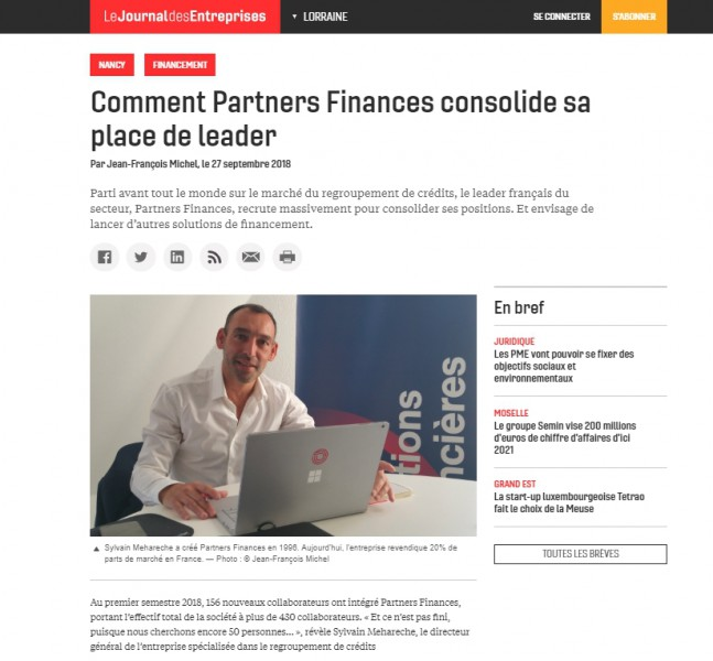 Partners Finances leader - JDE